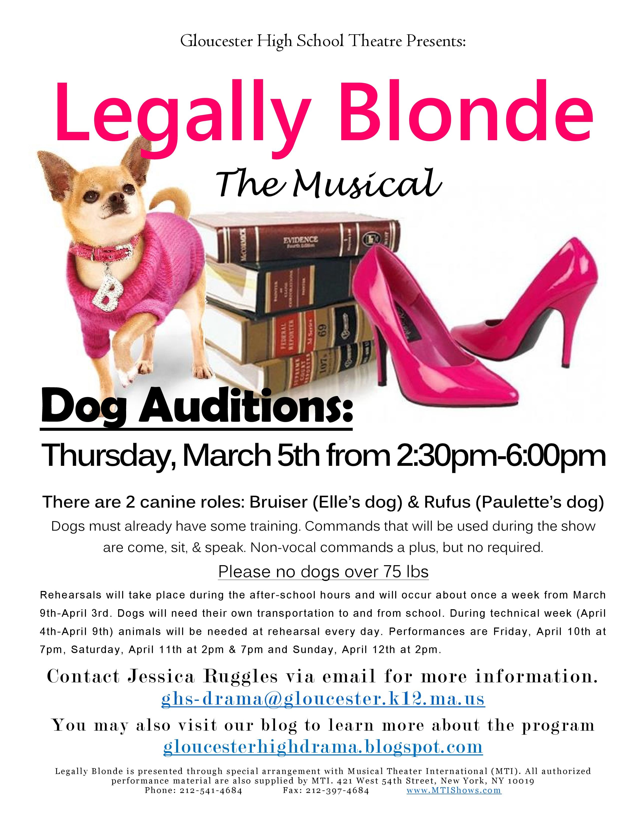Legally Blonde Dog Auditions Poster-page-001