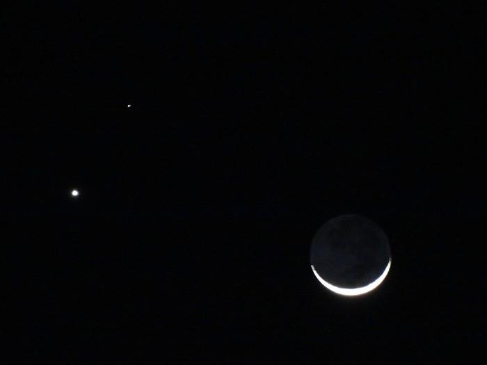 moon venus and mars