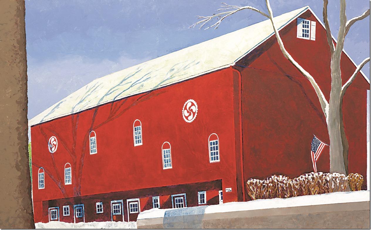 Winter Barn Red