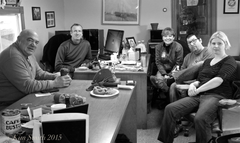 Good Morning Gloucester Podcast #128 Joey Ciaramitaro, Jim Dowd, KT Toomey, Kim Smith, Toby Pett, Donna Ardizonni ©Kim Smith 2015