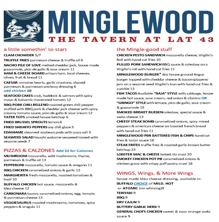 Minglewood lunch menu_2015