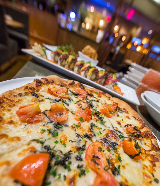 Minglewood pizza and sushi