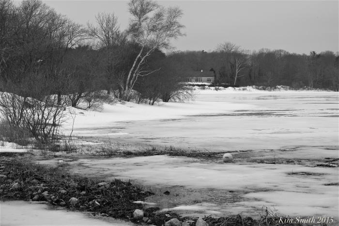 Niles Pond frozen ©Kim Smith 2015