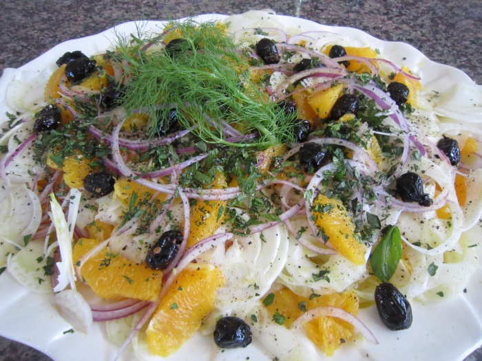 orange and finochio( fennel) salad 106