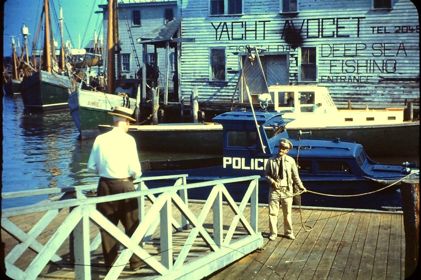 Policeman and Boat