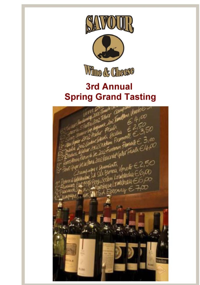 Spring Tastting 3rd Annual-1