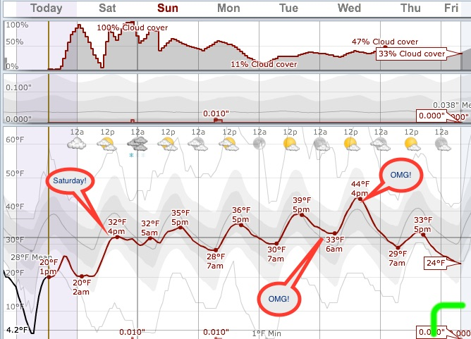 This next week spends most of the time above that nasty freezing line.