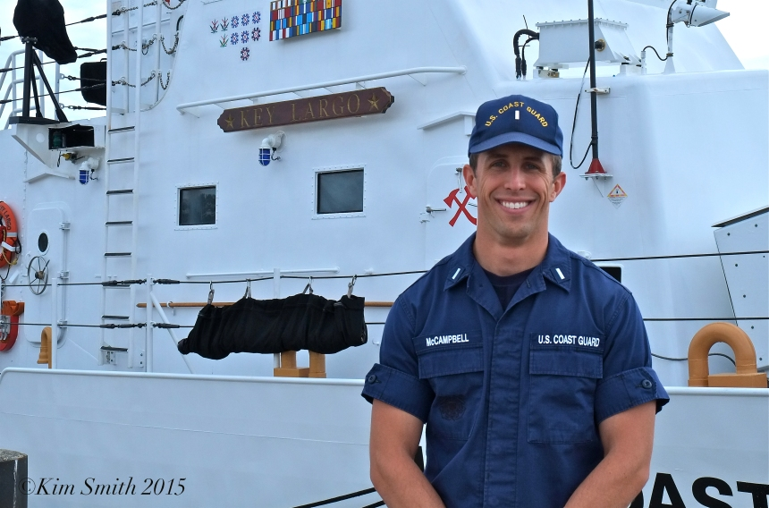 Brandon McCampbell Key Largo Coast Guard Cutter Executive Officer ©Kim Smith 2015