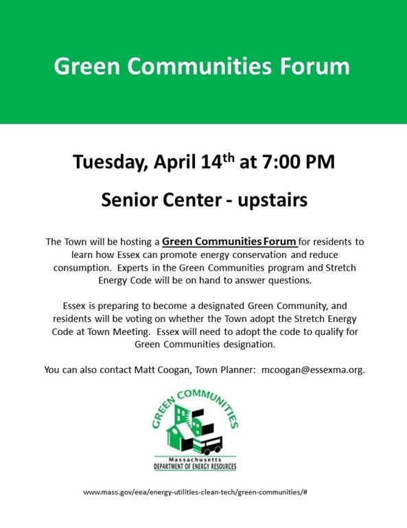 Essex Green Communities Forum - flyer