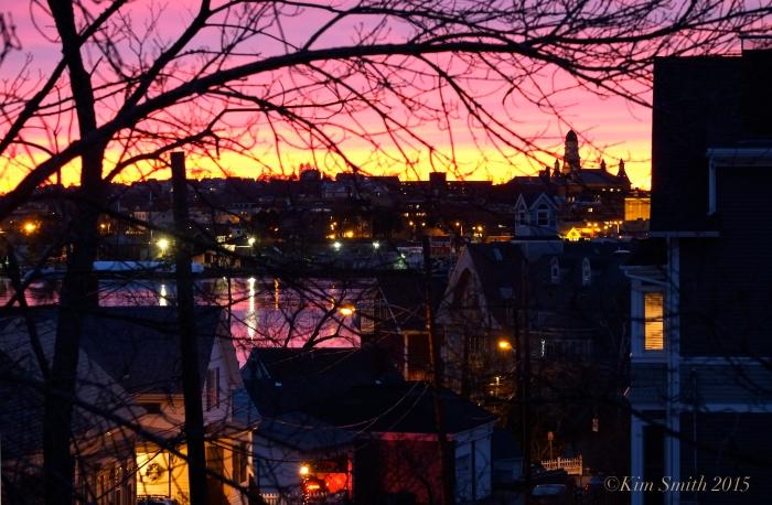 Gloucester MA City Hall Sunset -3 ©Kim Smith 2015