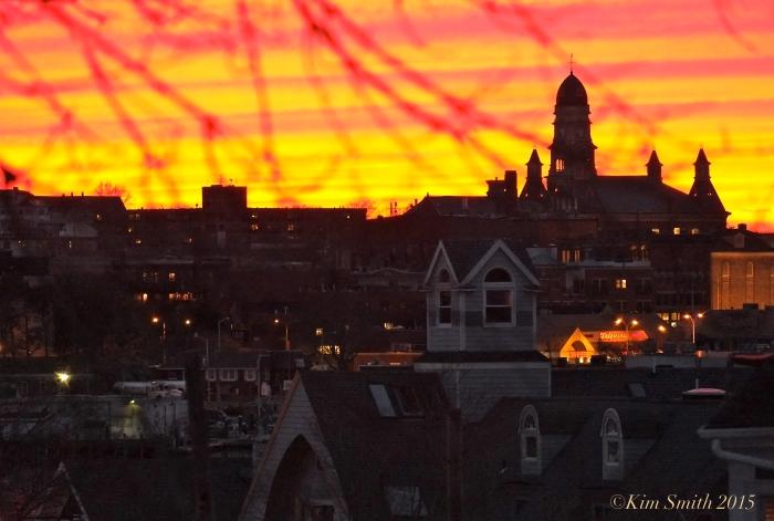 Gloucester MA City Hall Sunset ©Kim Smith 2015 -2