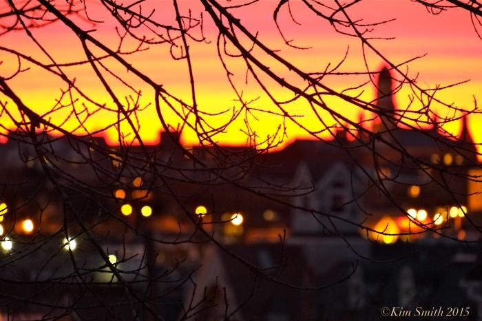 Gloucester MA City Hall Sunset ©Kim Smith 2015