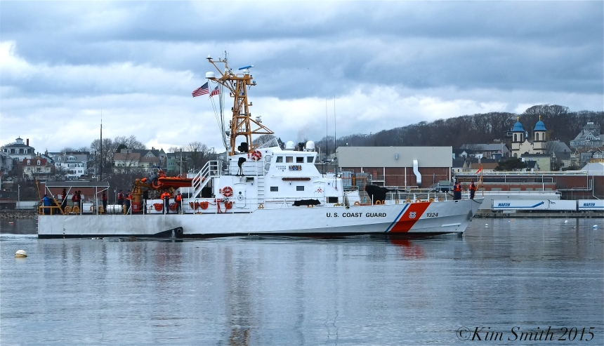 Key Largo Coast Guard Cutter Arrives Gloucester April 21, 2015 ©Kim Smith 2015 -5