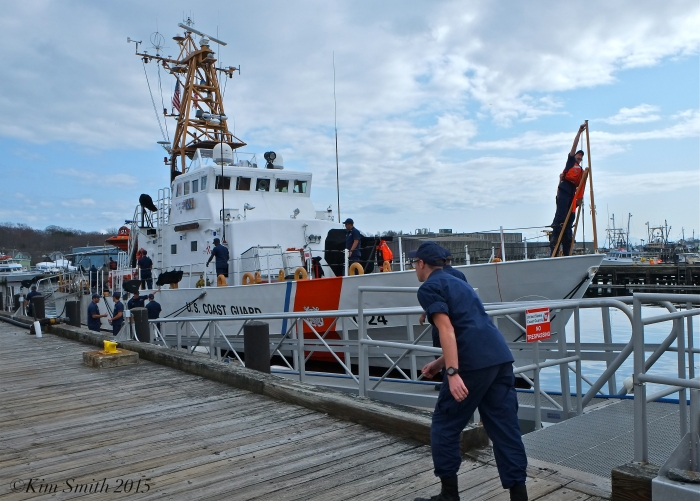 Key Largo Coast Guard Cutter Arrives Gloucester April 21, 2015 ©Kim Smith 2015 -7