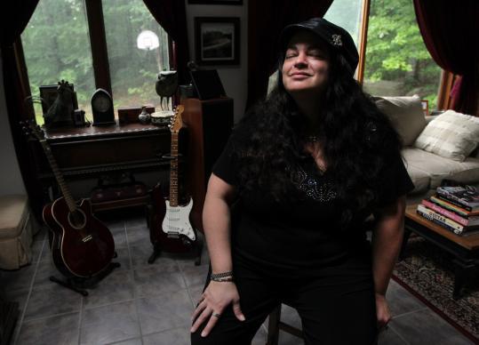 "Lisa Marie Harrington says, ""Music got me through the hard times.'' (Bill Greene/Globe Staff) By Lenny Megliola"