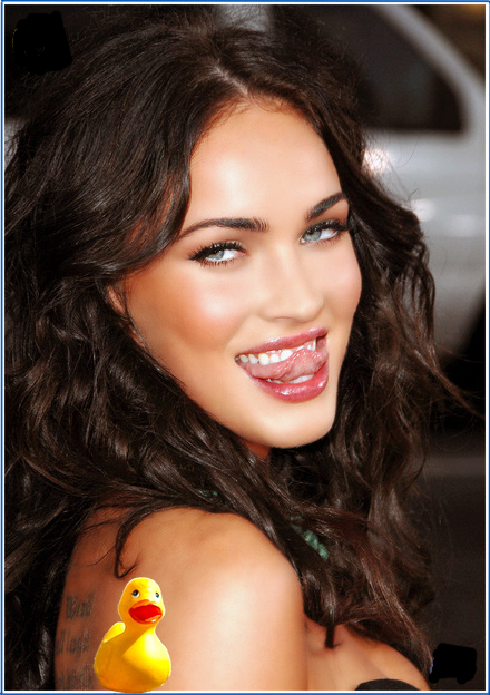 Megan Fox loves the taste of Rockport water.