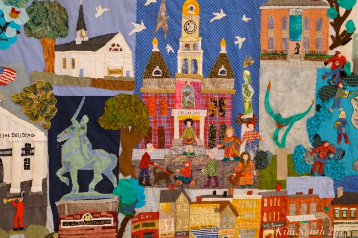 Gloucester Downtown Quilt Project City hall Detail ©Kim Smith 2015