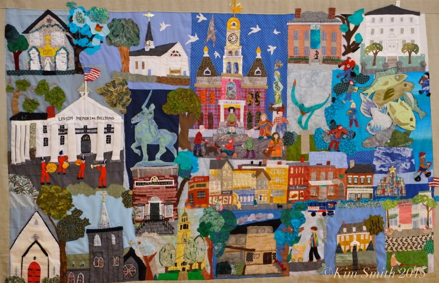 Gloucester Downtown Quilt Project Detail ©Kim Smith 2015