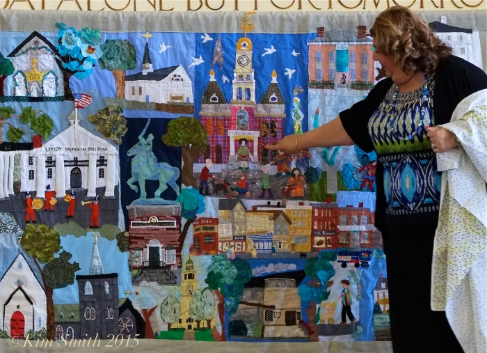 Gloucester Downtown Quilt Project Mayor Sefatia ©Kim Smith 2015
