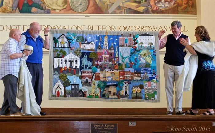 Gloucester Dwontown Quilt Unveiling Juni Van Dyke ©Kim Smith 2015