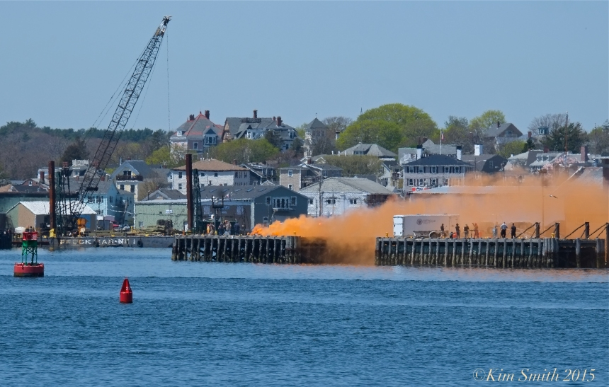 Gloucester Harbor fire ©Kim Smith 2015