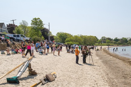 Crowds Covered the Beach!