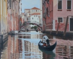 "Katalin Spang, ""Afternoon in Venice"", oil on canvas, 16""x20"""