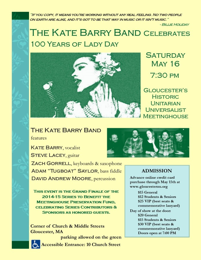Kate Barry Band at the Meetinghouse, Rev. 05-01-15