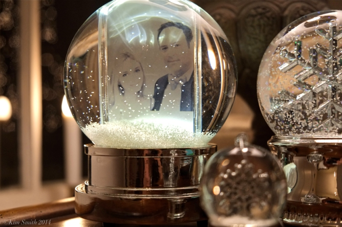 LIv and Matt snow globe Christmas ©KIm Smith 2014