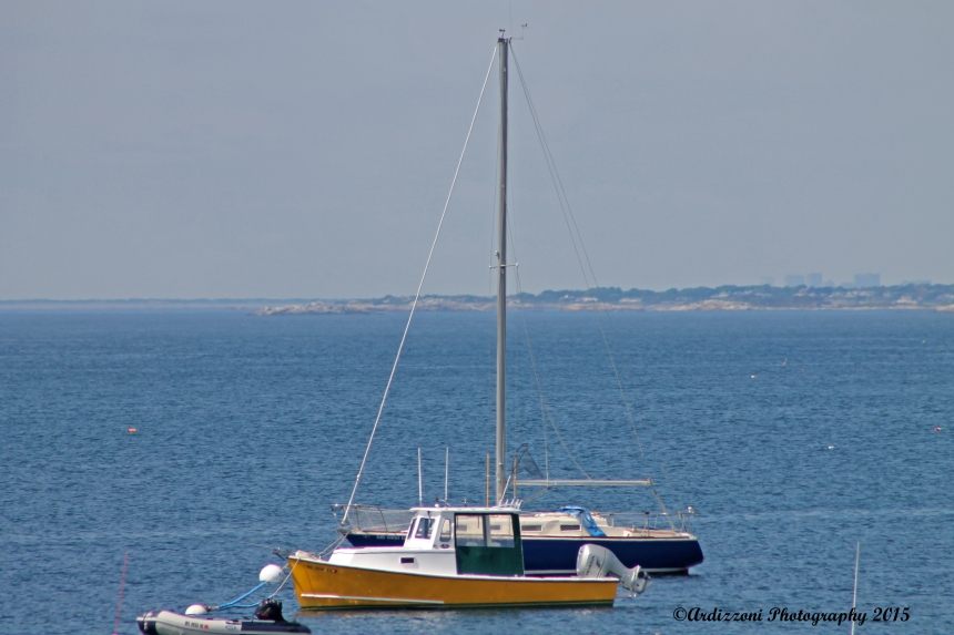 May 29, 2015 yellow boat in Magnolia Harbor