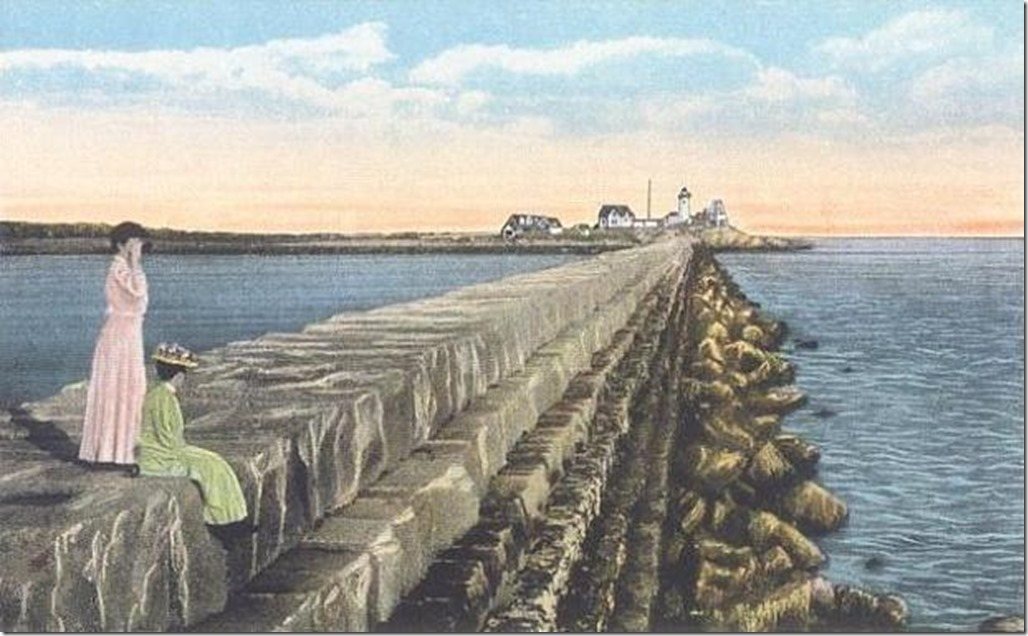 old time photo breakwater