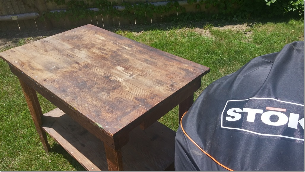 How would you restore this table and protect it from the elements using the  parameters I listed above?