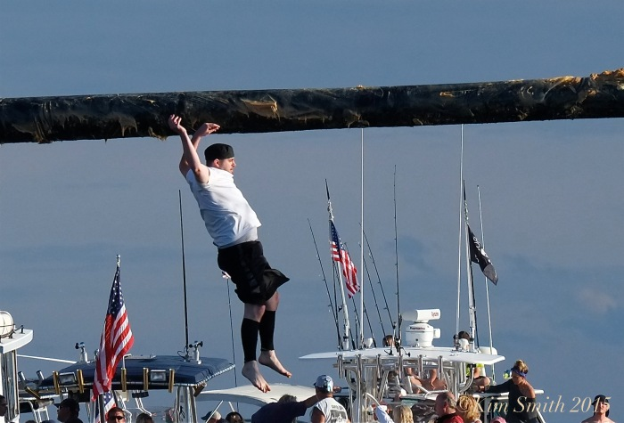 Brandon Paquette Greasy Pole Gloucester ©Kim Smith 2015