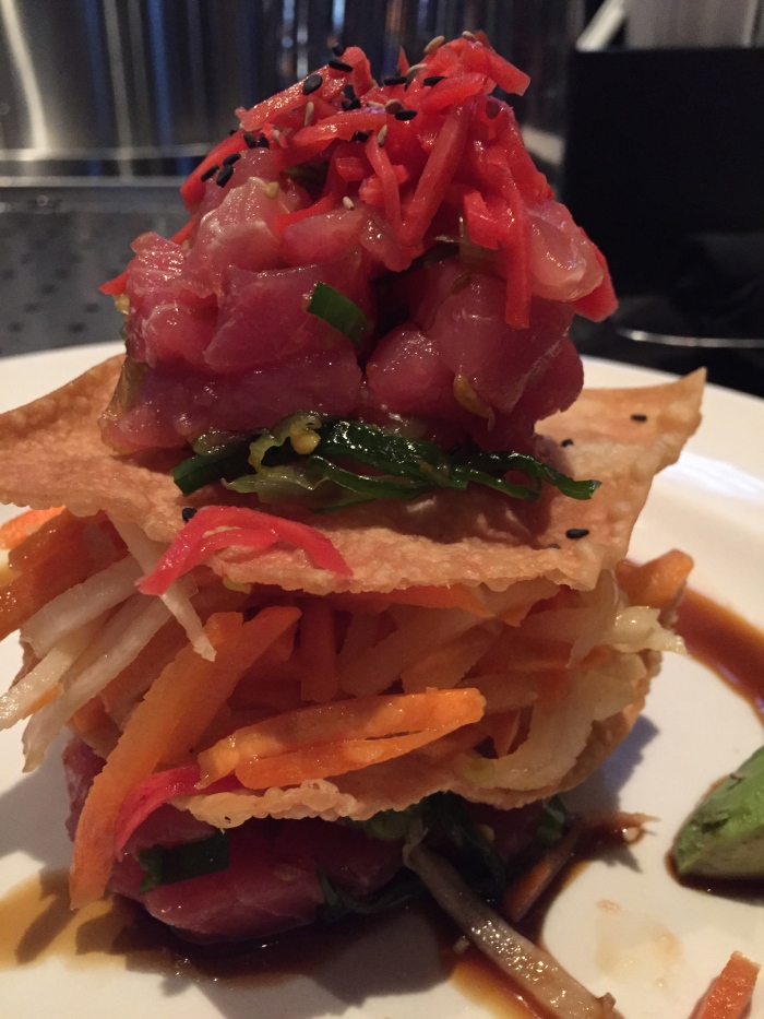 Poke Stack of Ahi Tuna