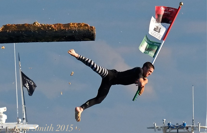 Jake Wagner Sunday Monday 2015 Greasy Pole Champion ©KIm Smith 2015