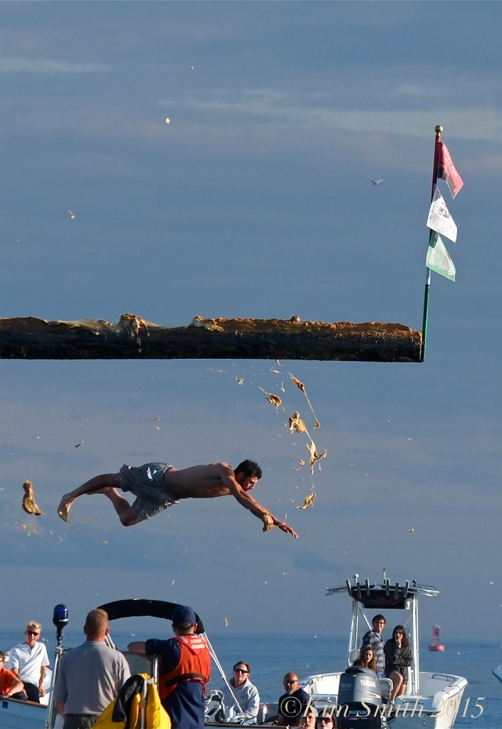 Joe DaSilva Greasy Pole Gloucester  ©Kim Smith 2015