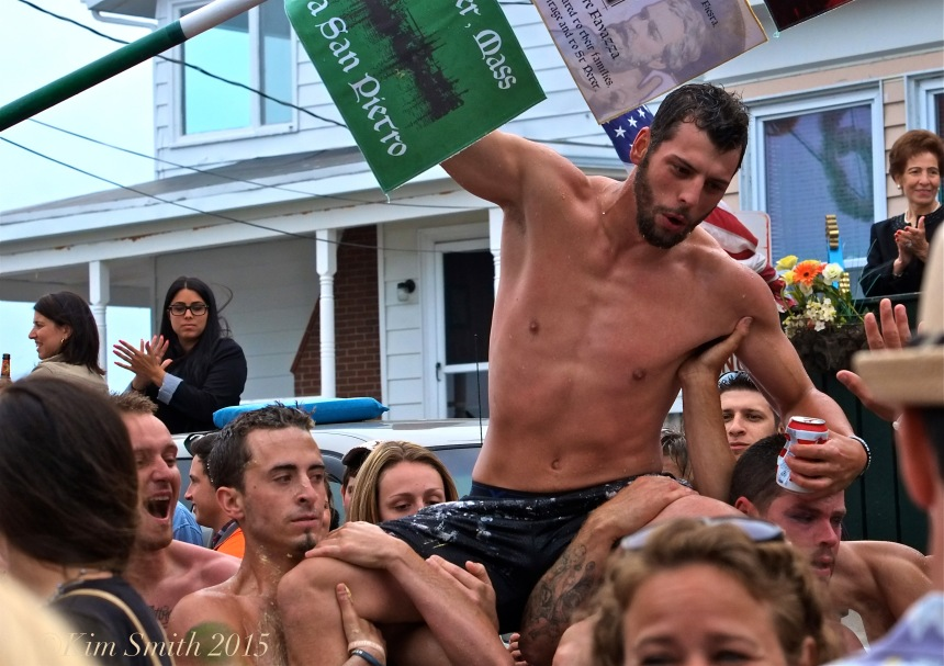 Joey Dasilva Saturday Greasy Pole Champion 2015 -4  ©Kim Smith
