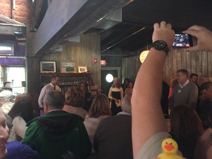 Mayor does an intro. Rubber Duck is all ears.