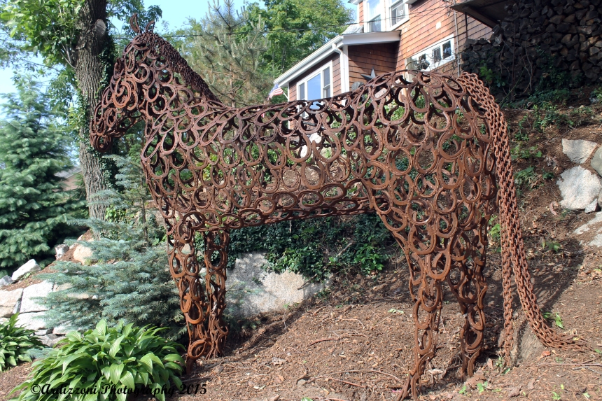 June 18, 2015 bronze horse on Magnolia Avenue