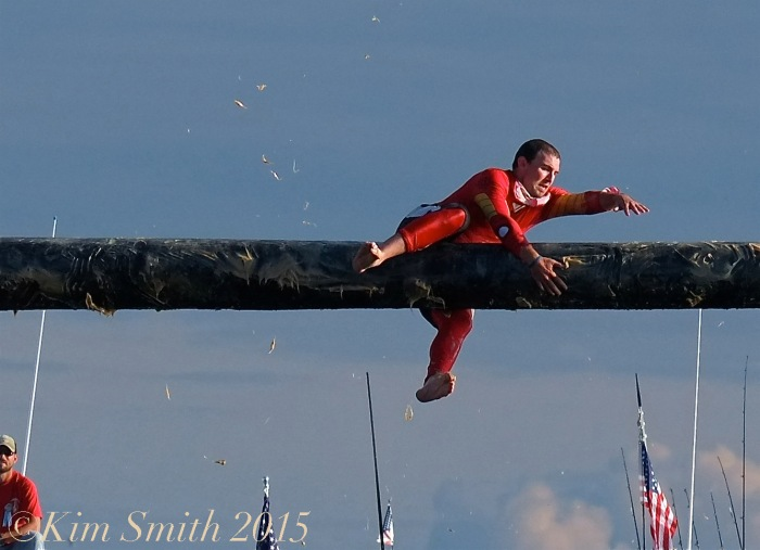 Kyle Barry Greasy Pole Gloucester ©Kim Smith 2015