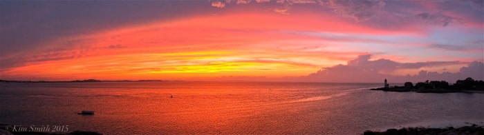Lighthouse Beach Sunset Panorama ©Kim Smith June 2015
