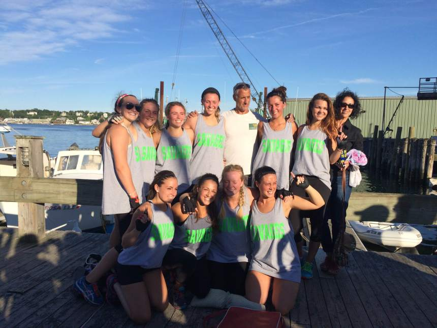 savages 2015 seine boat winner team photo