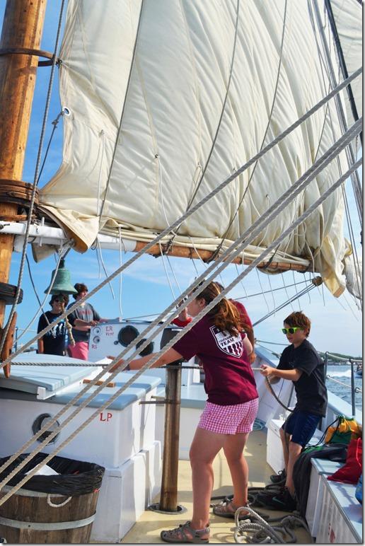 hauling sail