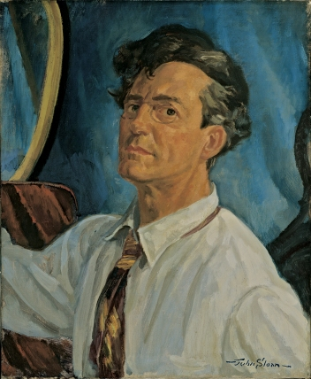John Sloan (1871-1951). Self-Portrait, Working, 1916. Oil on canvas. Hood Museum of Art, Dartmouth College, Hanover, New Hampshire. Gift of John and Helen Farr Sloan. ©2015 Delaware Art Museum/Artists Rights Society (ARS), New York.