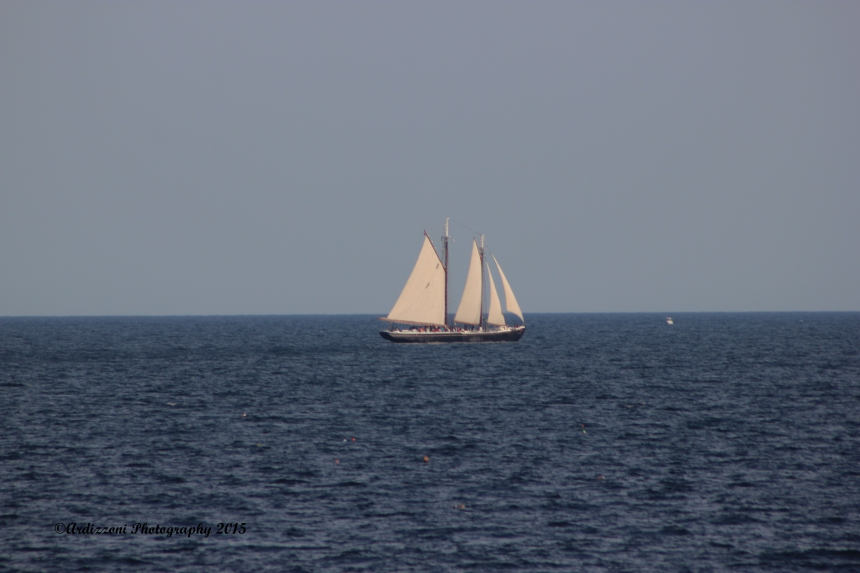 July 17, 2015 Schooner Adventure sailing by Shore Road