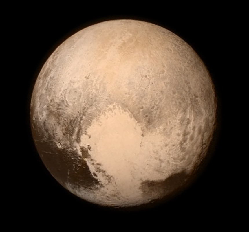 Isn't this cute! Aliens have drawn a cute heart on the side of Pluto! This view was from last night as the New Horizons NASA probe approaches the last planet to be photographed up close and personal.