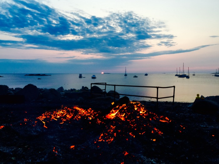 This year it was as hot as ever. You could have roasted a Seaview Farm Grass fed Steer on these coals.