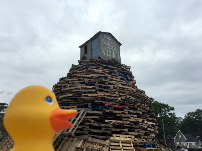 The bonfire is ready for the match at 9PM tonight but do not miss the food and fun and parade that starts at 6PM.