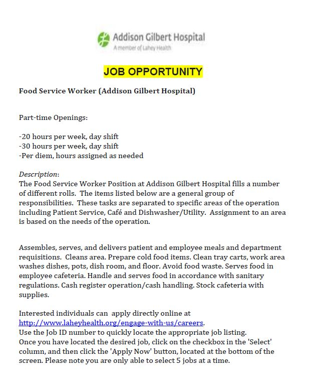AGH Job Opportunity