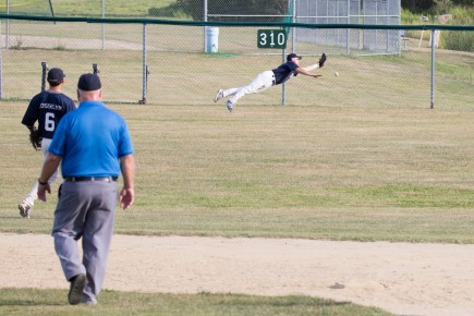 Diving in the Outfield